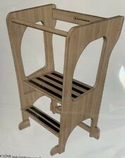 KATANABANA Kids Kitchen Step Stool Helper- Learning Toddler Tower - Hardwood