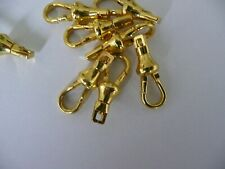 10 x Clasp Gold Plated Albert Swivel Pocket Watch Fob Dog Clip 23mm  for chain