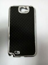 SAMSUNG NOTE 2,N7100, Black & Silver Back CASE Cover WITH SCREEN PROTECTOR
