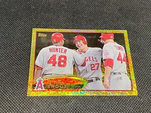 2012 Topps Gold Sparkle Mike Trout RC #446 Rookie Angels SP