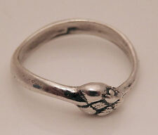 SNAKE Ouroboros Ring .925 Sterling SILVER Size 6 Serpent Power Snake Mother Ring