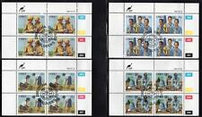 CISKEI 1985 USED CTO GIRL GUIDES SET BLOCKS OF 4