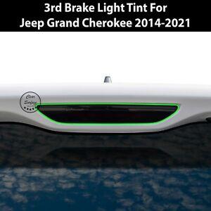 Fits 2014-2021 Jeep Grand Cherokee Third Brake Light Overlay Tint Cover Smoke