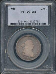 1806 Draped Bust Quarter PCGS G 04 *Nice For The Grade*