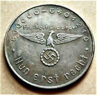 WW2 GERMAN COLLECTORS COIN ADOLF HITLER REICHSMARK