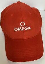 OMEGA Watches Logo Baseball Cap - Seamaster/Speedmaster - Red/White