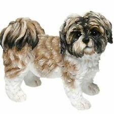 More details for dog studies by leonardo large brown & white standing shih tzu dog figurine