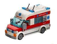 LEGO City Hospital Ambulance Split From Set No Minifigure Train Town Scenery