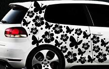 122-teiliges Auto Aufkleber Hibiskus Blumen Schmetterlinge HAWAII jc WANDTATTOO