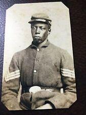 civil war African American Union Soldier  tintype C697RP