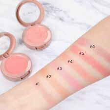 6pcs Shimmer Blush Powder Palette Red Peach Color Mineral Blusher Makeup Set