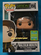 Green Arrow - Malcolm Merlyn SCE 2016 Exclusive Pop!  SDCC + Protector