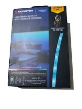 NEW MONSTER LED Strip Light Kit With Remote Control 050644770098