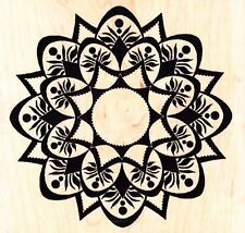 MANDALA STYLE DESIGN LARGE - Wood Mounted Rubber Stamp - Personal Impressions