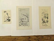 More details for    1963-1965 three vintage ex libris  by stanislav hlinovsky/1924-1994/,signed