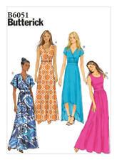 Butterick Sewing Pattern B6051 Plus SZ16-24 Misses' Easy Surplice Dresses Maxi