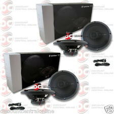 "4 x BRAND NEW ROCKFORD FOSGATE 6.5-INCH 6-1/2"" 3-WAY CAR AUDIO COAXIAL SPEAKERS"