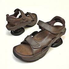 0d6f3be2a3 Z Coil Sidewinder Men's Brown Leather Pain Relief Sandals Sz 14 W Comfort  NWB