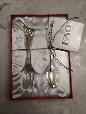 Fao Schwarz Silver Plated Teddy Bear Fork And Spoon