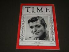 1936 AUGUST 31 TIME MAGAZINE - CLARK GABLE FRONT COVER - O 7728