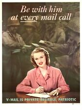 be with him at every mail call patriotic patriotic propaganda baby wall posters