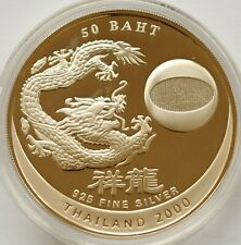 Thailand 50 Baht Millennium 2000 Silver Proof in Sealed Capsule