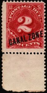Canal Zone - 1914 - 2 Cents Rose Carmine Overprinted Postage Due # J2 Mint F-VF