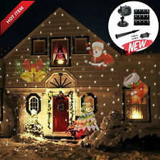 Outdoor Laser Projector LED Star 12 Slides Christmas Light Party Home Decoration