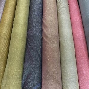 MOONLIGHT Shimmer TWO TONE 'Glitter' Jersey Fabric Material 2 Way Stretch