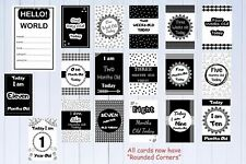 Baby Milestone Cards Monochrome Pack of 18-MONTHS ONLY Baby shower gift New Mum