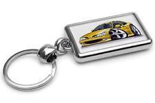 Renault Megane Coupe Yellow Premium Metal Key Ring