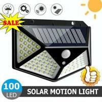 100 LED Solar Waterproof Power PIR Motion Sensor Wall Light Outdoor Garden Lamp