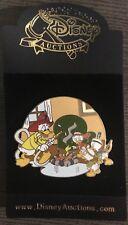 Disney Auctions Donald Duck w/ Fire Hose Pin LE 250 Huey Dewey Louie Fireman NEW