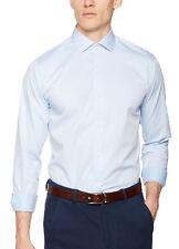 Jack & Jones Premium Long Sleeve Shirt Mens Slim Fit Plain Smart Business Shirts L Blue