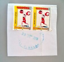 Albania Stamps 2009. Albanian Sports (weightlifting). Canceled Service Stamp
