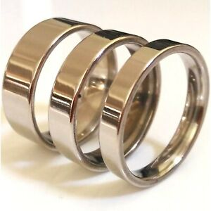 4mm 6mm 8mm Stainless Steel Mens Womens Wedding Band - Silver New Ring M to Y