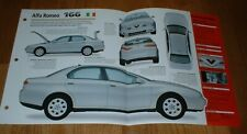 ★★1998 ALFA ROMEO 166 V6 ORIGINAL IMP BROCHURE SPECS INFO 98 99 00★★