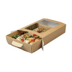 Premium Cardboard Large Tuck-Top Platter Box With Window (38.5 x 26 x 8.5cm)
