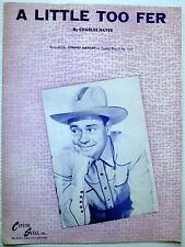 JOHNNY MERCER Sheet Music A LITTLE TWO FER Capitol Songs Inc.