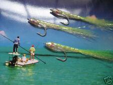 3 V Fly Size 2 Chartreuse LIVING cicerello PREDATOR esche pesci acqua salata MOSCHE