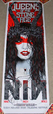 QUEENS OF THE STONE AGE Nine Inch Nails concert gig poster MELBOURNE 3-15-14 nt2