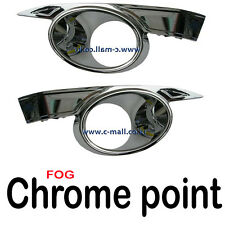 Fog Lights Lamp Chrome Point Left Right Side 2P For 2011 2012 Chevy Captiva