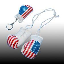 America BOXE MINI GUANTONI DA PUGILATO e catena chiave per la vista Posteriore Specchio