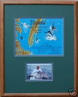 "Virginia Citation Framed Fishing Trophy 16"" x 20"""