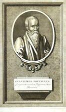 """Burin - ANONYME , """"Portrait de Guillaume Postel"""""""