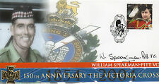 150th Anni VICTORIA CROSS personally signed own FDC - BILL SPEAKMAN VC