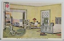 Advertising ALABASTINE WALL COATING Interior View Bedroom Postcard Q11