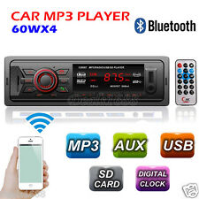 Bluetooth Car Stereo Audio In-Dash 1 Din Fm Aux Input Radio Receiver Sd Usb Mp3