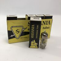 Sleeve Of 5 Vtg NOS New Old Stock 4HK5 Vacuum Tubes