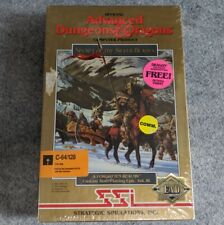NEW AD&D Secret of the Silver Blades Commodore 64 SSI TSR vintage computer game